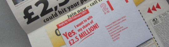 People's Postcode Lottery - Newspaper mailing